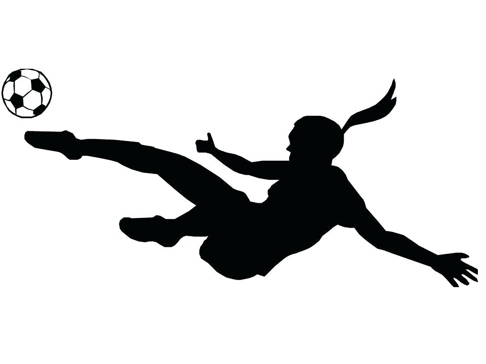 960x720 Soccer Silhouette Football Player Dribbling Clip Art Playing