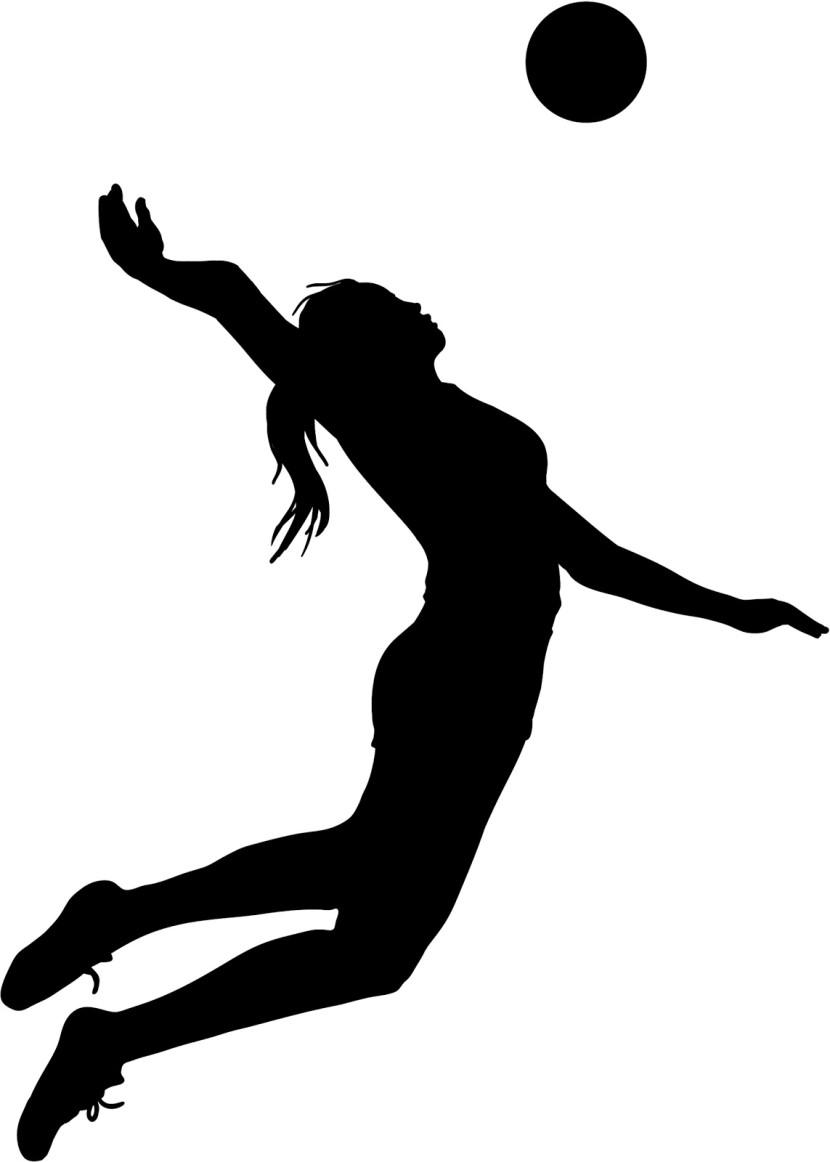 830x1162 Volleyball Girl Clipart Volleyball Spike Silhouette Clipart