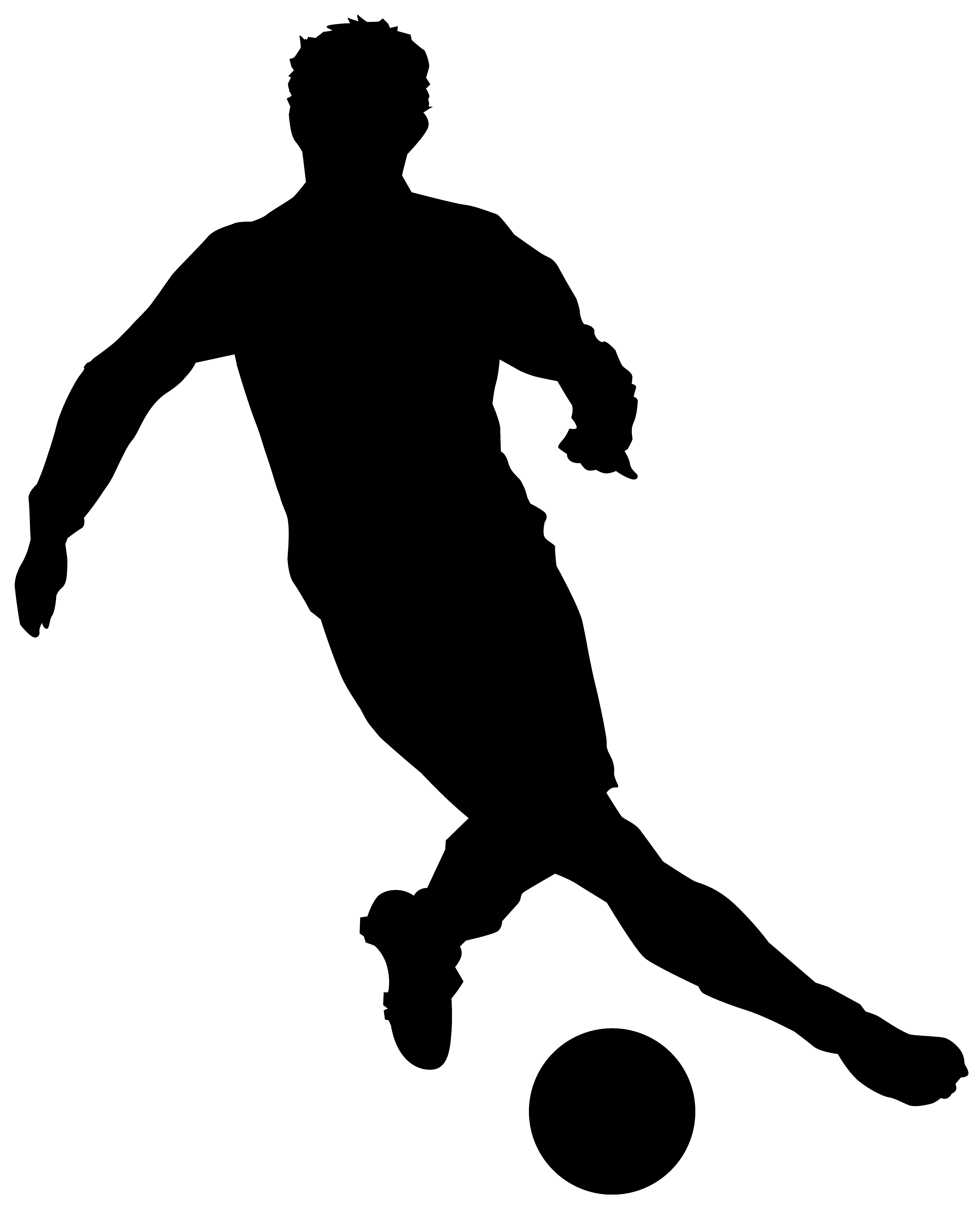 6468x8000 Girl Soccer Player Silhouette Clipart Library Free Stunning