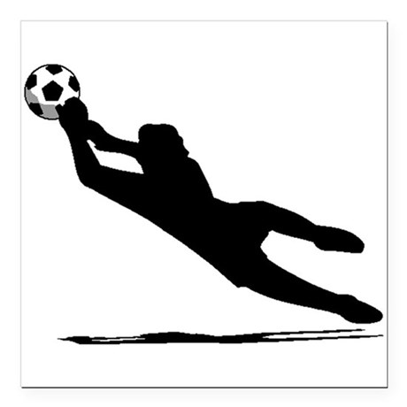 460x460 Soccer Goalie Silhouette Square Car Magnet 3 X 3 By Coolsoccergifts
