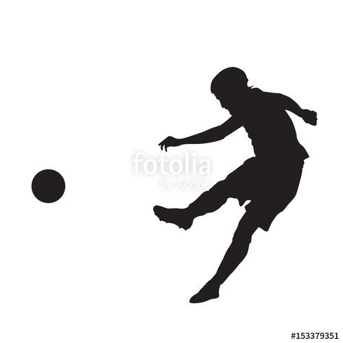 500x500 Soccer Goalie, Goalkeeper. Vector Silhouette Stock Image