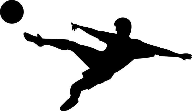 800x463 Soccer Horizontal Shot Silhouette Stickers By Lovingangela
