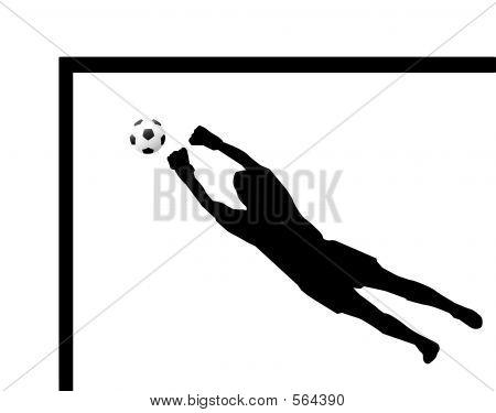 450x375 Soccer Goalie Silhouette Vector