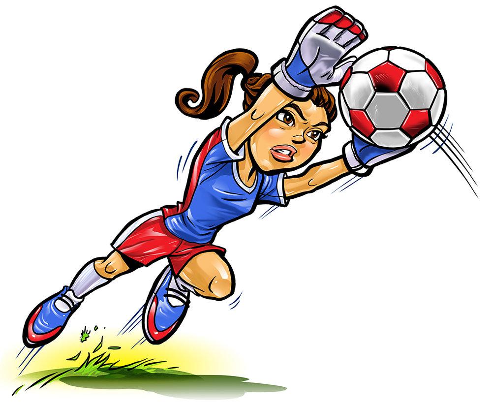 1000x825 Girl Soccer Goalie Clipart