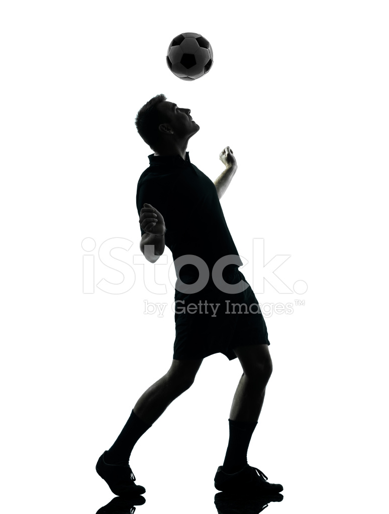 774x1024 Man Soccer Player Silhouette Stock Photos