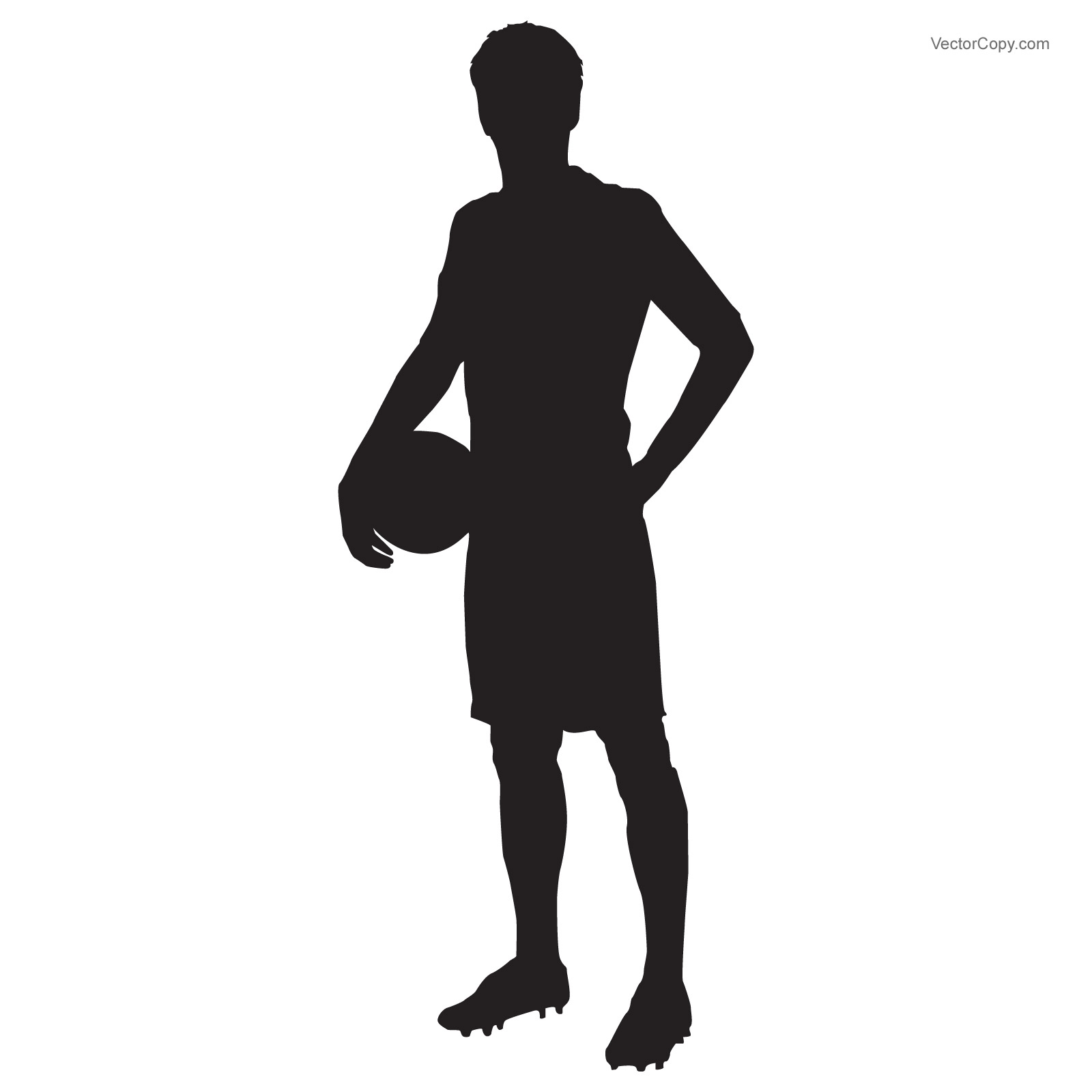 1600x1600 Silhouette Of Soccer(Football) Player Free Download Vector Clipart