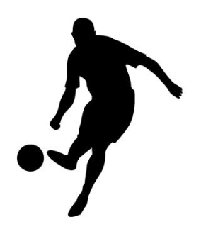284x330 Soccer Player Silhouette 3 Decal Sticker