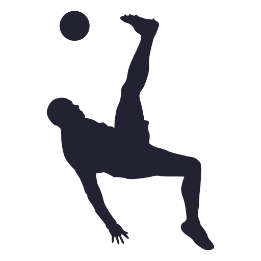 512x512 Soccer Player Kicking Silhouette 2
