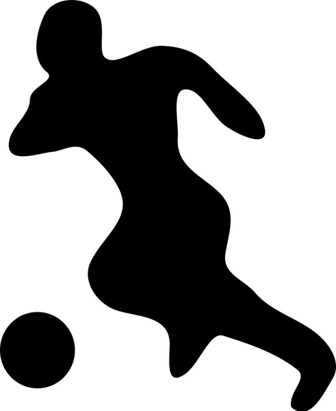 491x600 Soccer Player Silhouette Free Vector In Open Office Drawing Svg