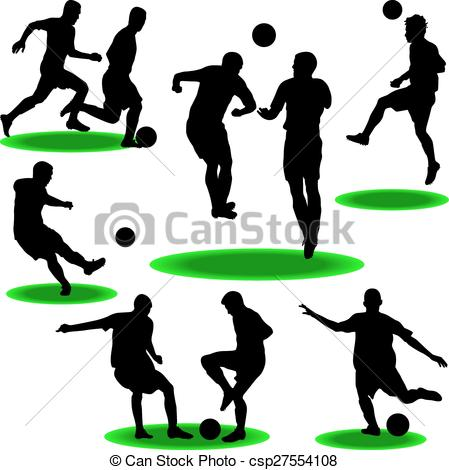 449x470 Soccer Player Silhouette Vector Vector Clipart