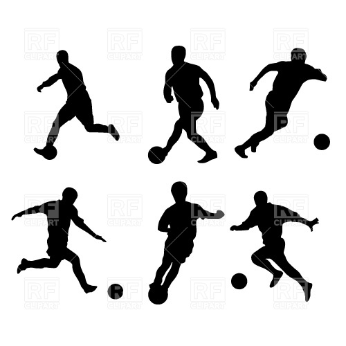 500x500 Soccer Players Silhouette Free Download Vector Clip Art Image