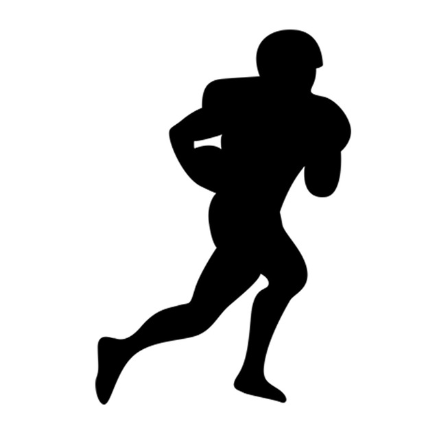 640x640 American Football Soccer Player Silhouette Rugby Sport Man Ball