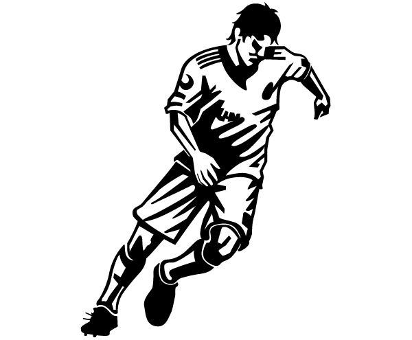 600x495 Soccer Player Vector Image Vector, Free Vector Images
