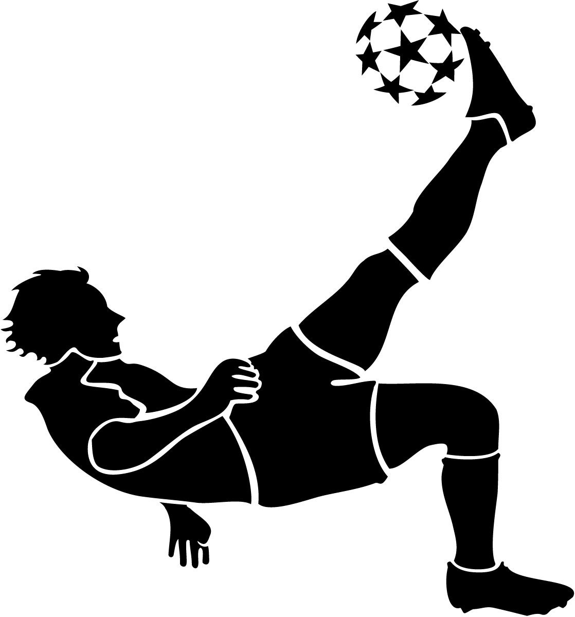 1118x1200 Soccer Player Dribbling Silhouette Free Vector
