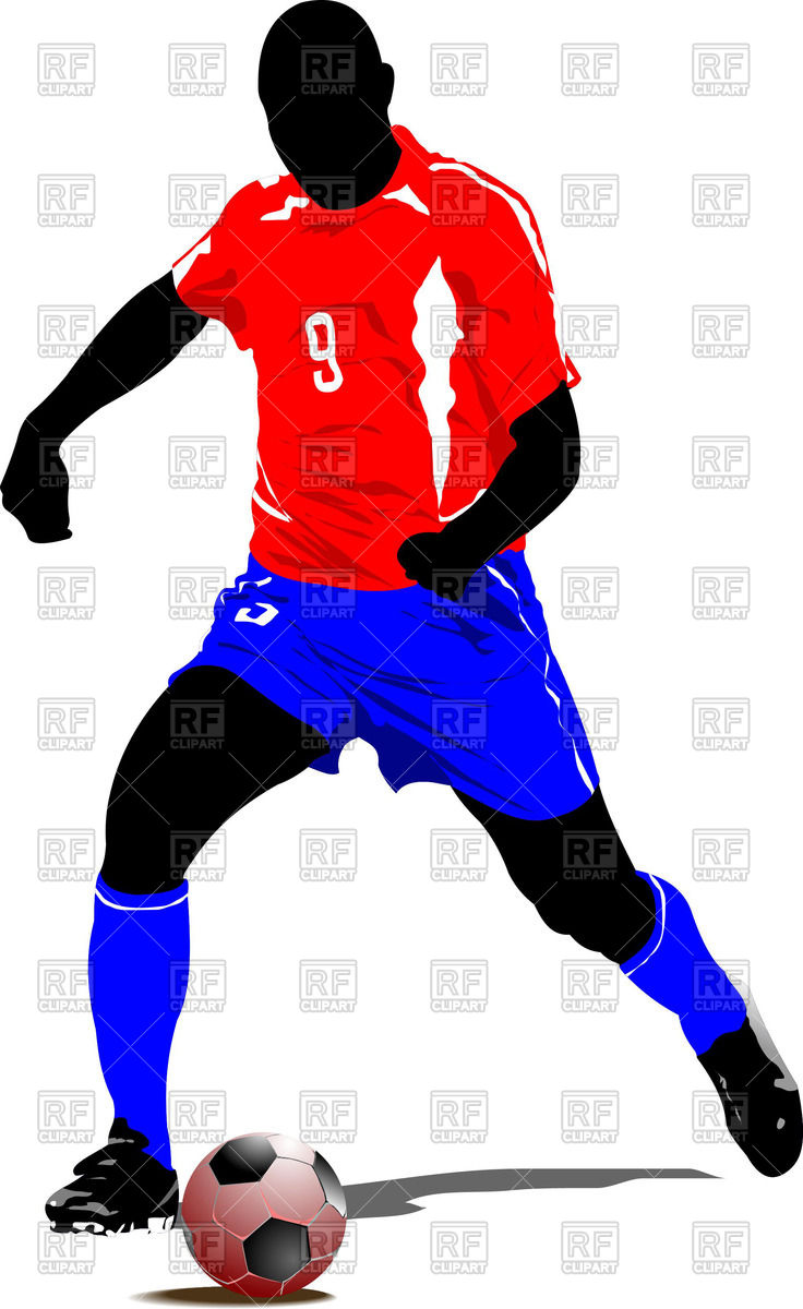 736x1200 Soccer Player Silhouette Royalty Free Vector Clip Art Image