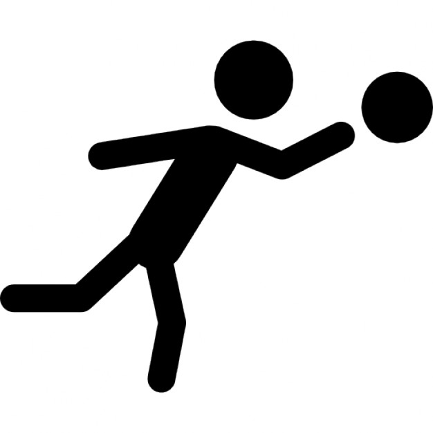 626x626 Soccer Player Silhouette With The Ball Icons Free Download