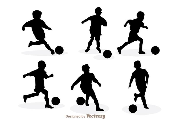 700x490 Playing Soccer Silhouette Vectors