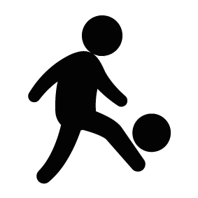 283x283 Man Playing Soccer Silhouette Silhouette Of Man Playing Soccer