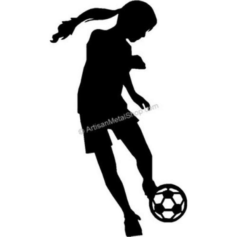 800x800 Soccer Girl Kicking A Soccer Ball Sport Wall Decor Art