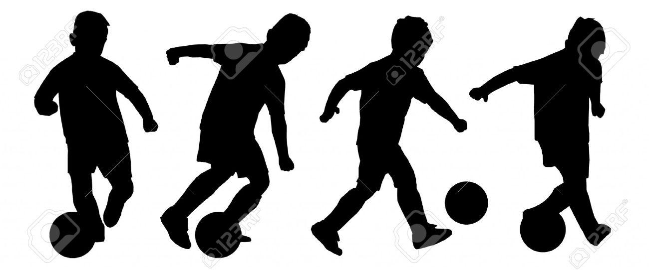 1300x542 Boy Soccer Silhouette Clipart