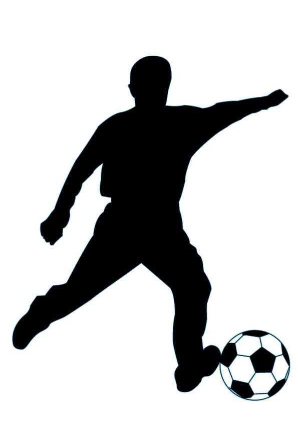 595x842 Soccer Silhouette