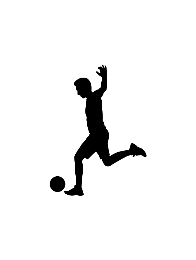 640x851 Soccer Silhouettes