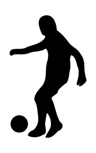 375x600 Soccer Silhouette Scanampcut Soccer Silhouette