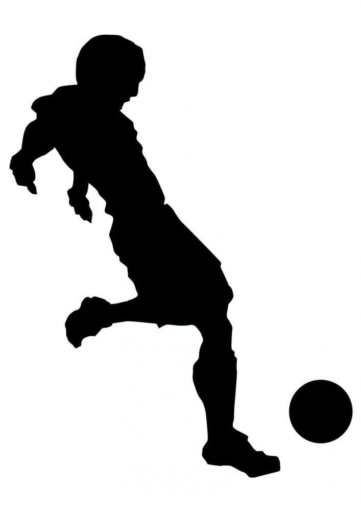 Soccer Silhouette Clip Art