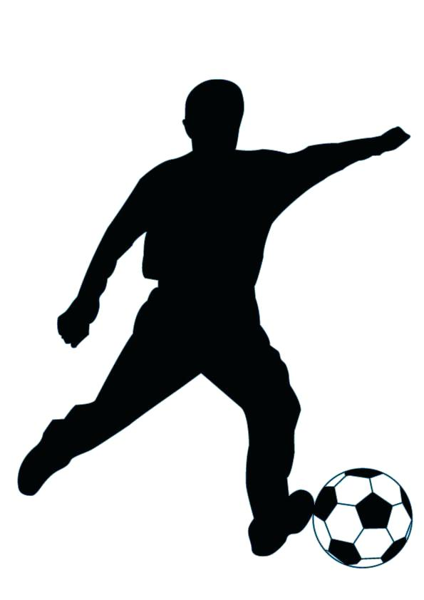 595x842 Soccer Silhouette Football Player Dribbling Clip Art Playing