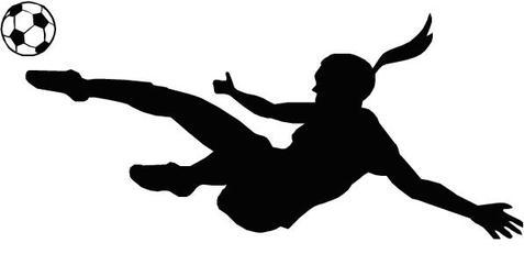 477x231 Girls Soccer Clipart