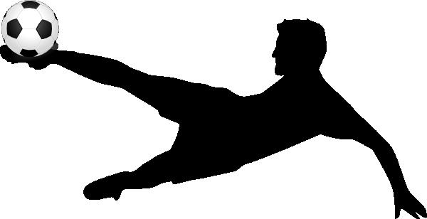 600x308 Kicking Soccer Ball Silhouette Clipart Panda