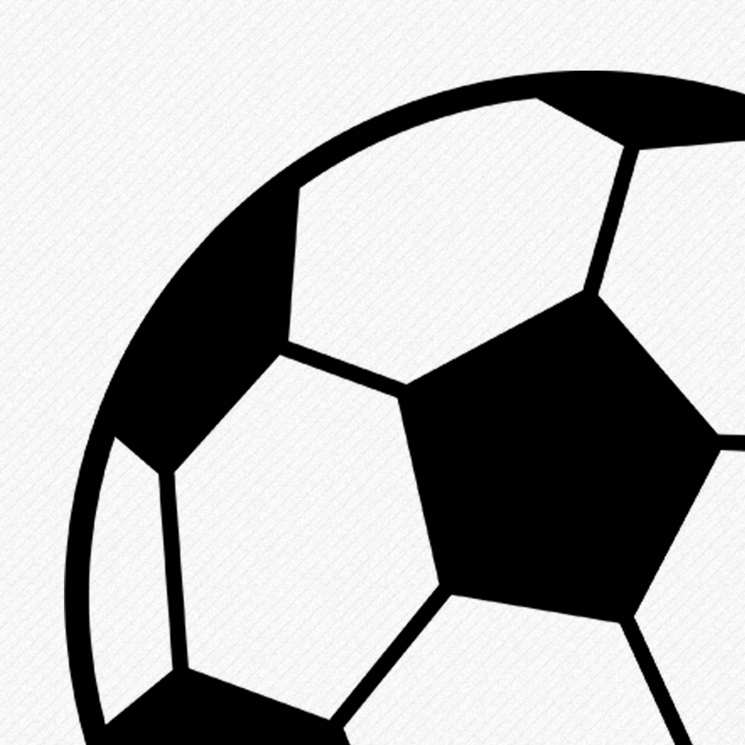 2375x2375 Soccer Ball Football Svg, Soccer Silhouette, Monogram Soccer Ball