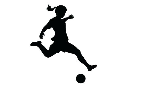 550x354 Soccer Silhouette Football Player Dribbling Clip Art Playing