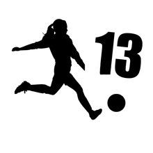 Soccer Silhouette Girl