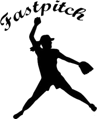 Softball Girl Batter Silhouette