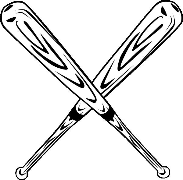 600x591 Softball Bats Crossed Clipart