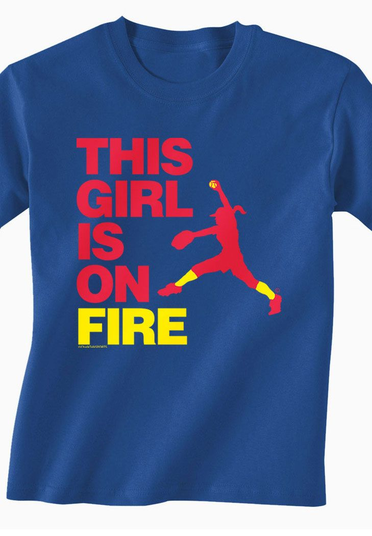 729x1050 This Girl Is On Fire Softball Tee! Fast Pitch Softball Pitcher