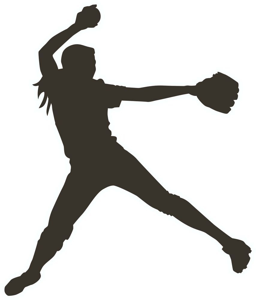 854x1000 Girl Softball Pitcher Clipart