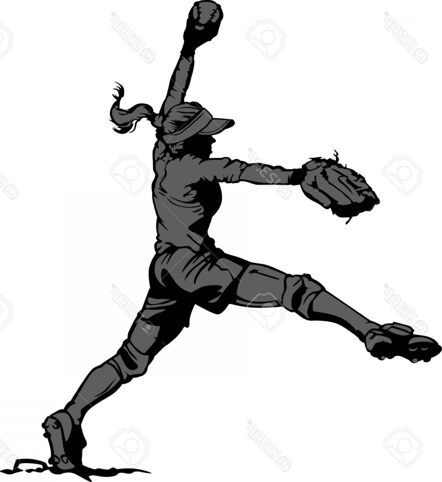 1428x1560 Softball Girl Face Vector Lazttweet