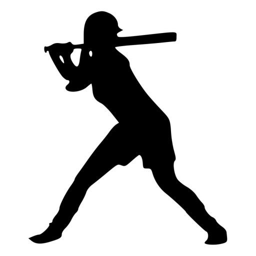 512x512 Softball Girl Silhouette