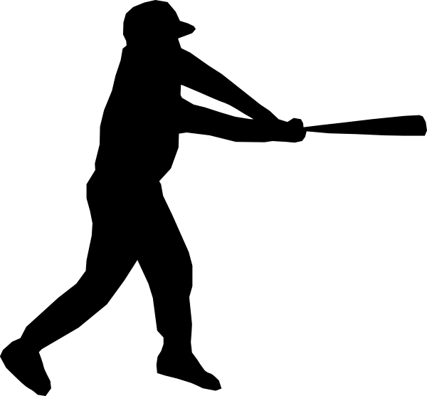 600x556 Baseball Player Silhouette Clip Art