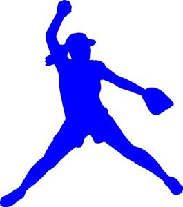 265x300 Fastpitch Softball Clipart