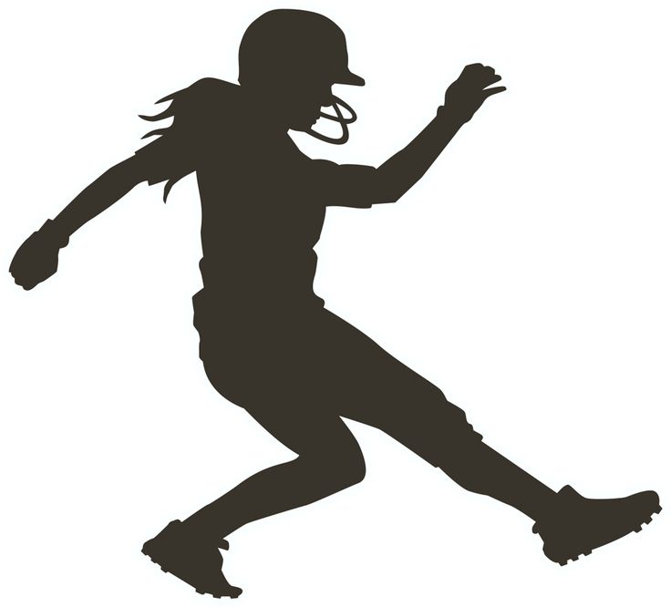 Softball Player Silhouette Clipart