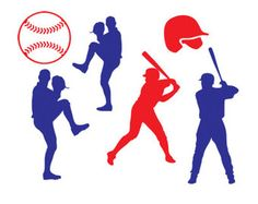 236x187 Baseball Player Silhouettes Silhouettes, Activities And Baseball