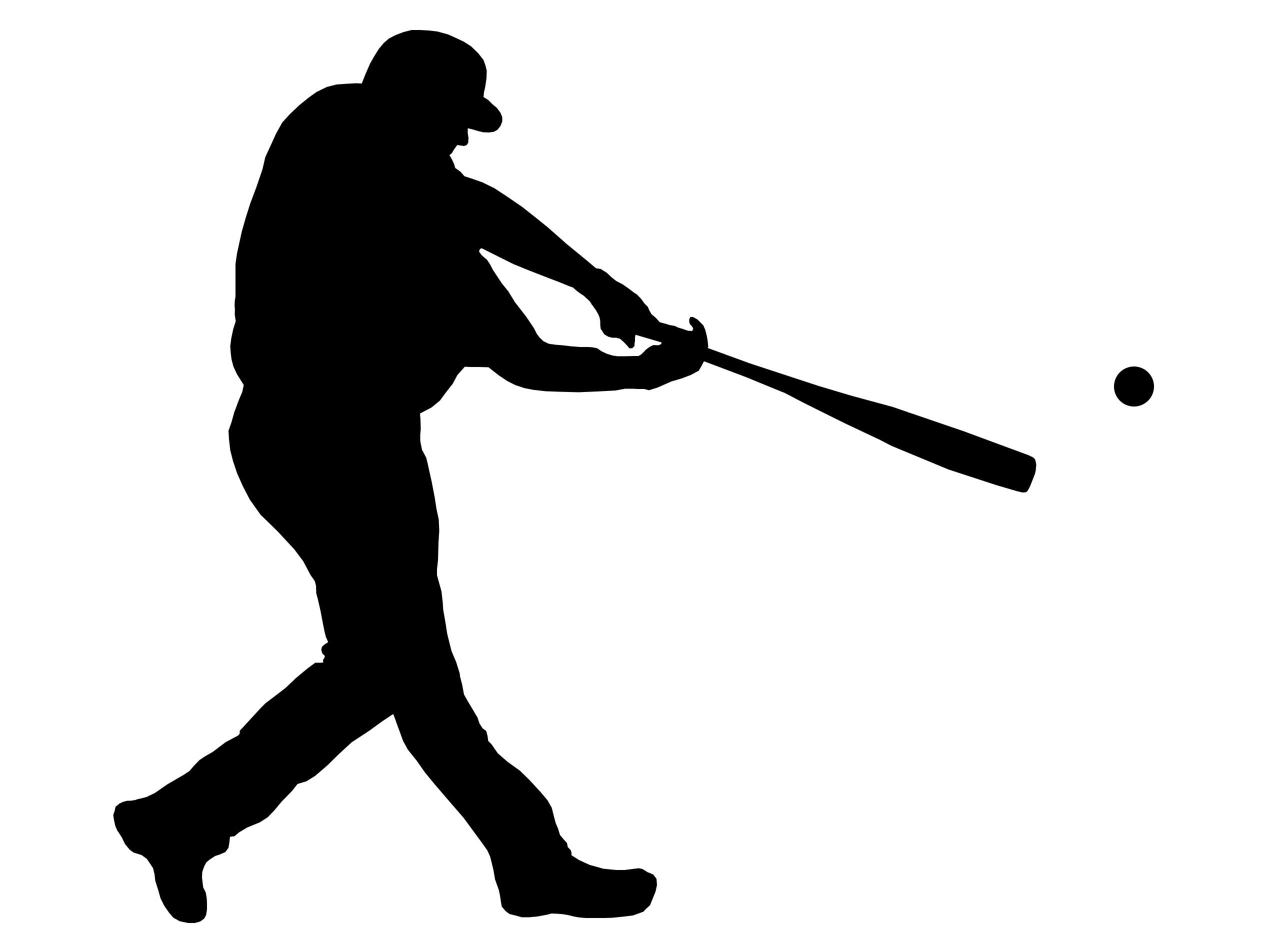 2536x1904 Softball Player Silhouette Clipart