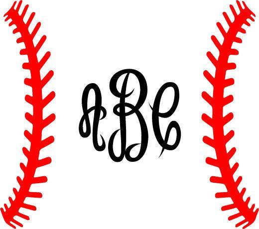 520x460 Baseball Laces Svg Baseball Monogram Frame Svg Silhouette Cricut