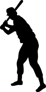 150x300 Baseball Player Clipart Image
