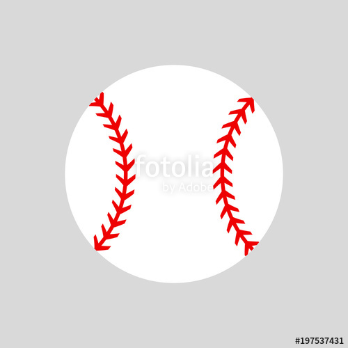 Softball Silhouette Vector