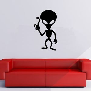 300x300 Alien Silhouette Ufo Planets And Space Wall Stickers Solar System