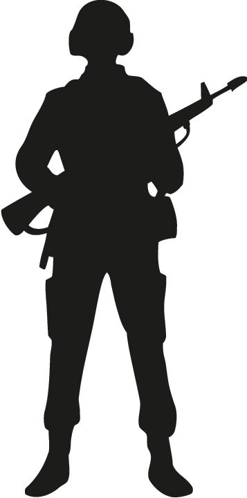 357x720 Silhouette Soldier